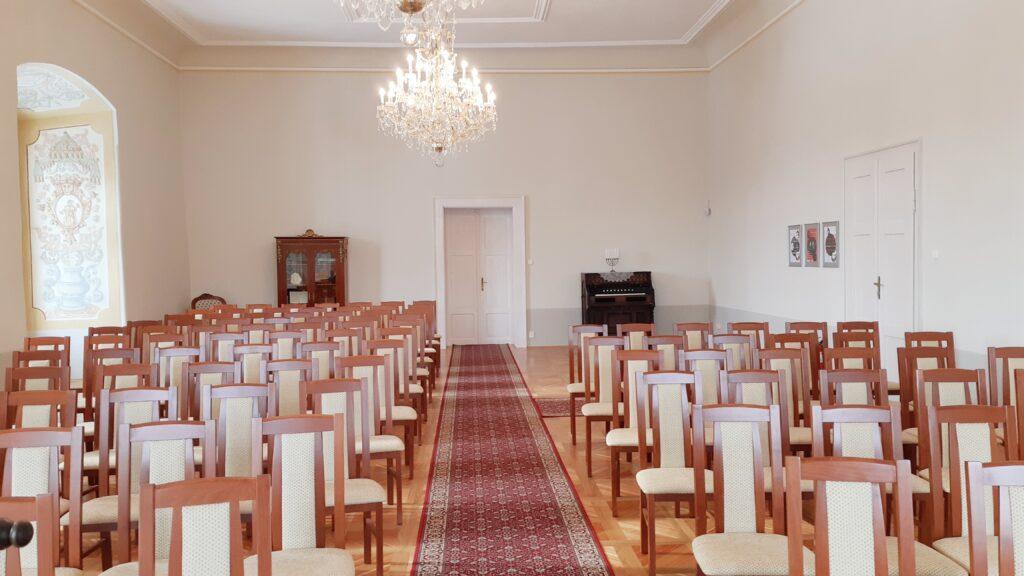 Hudební sál, místo pro velkou svatbu