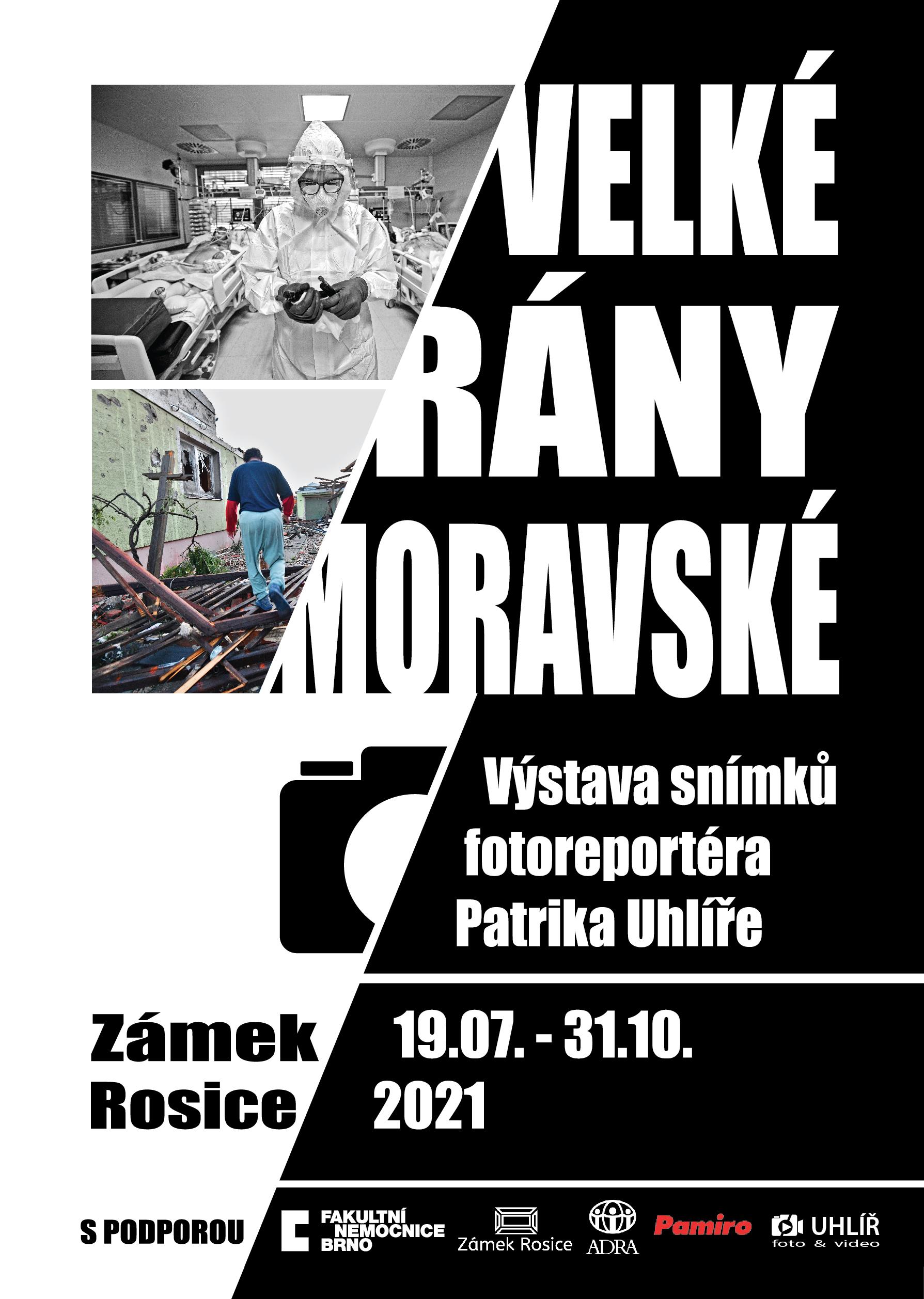 Plakát k výstavě Velké rány moravské
